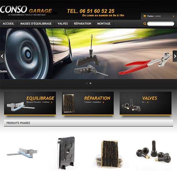 Conso Garage réalisation Creactiweb, agence web à Lyon