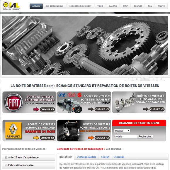 La boite de vitesses Réalisation Créactiweb - Agence Web Lyon