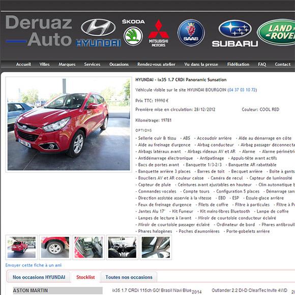 deruaz auto une réalisation creactiweb agence web Lyon