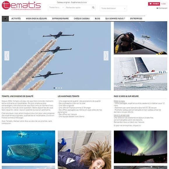 tematis.com une réalisation Creactiweb agence web à Lyon https://www.creactiweb.com