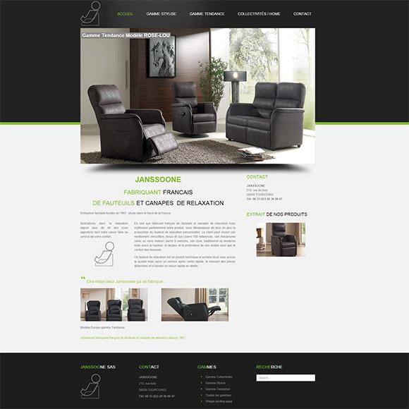 Janssoone SAS site internet réalisé par Creactiweb agence web Lyon