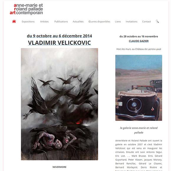 site galerie Pallade réalisation Creactiweb agence Internet Lyon