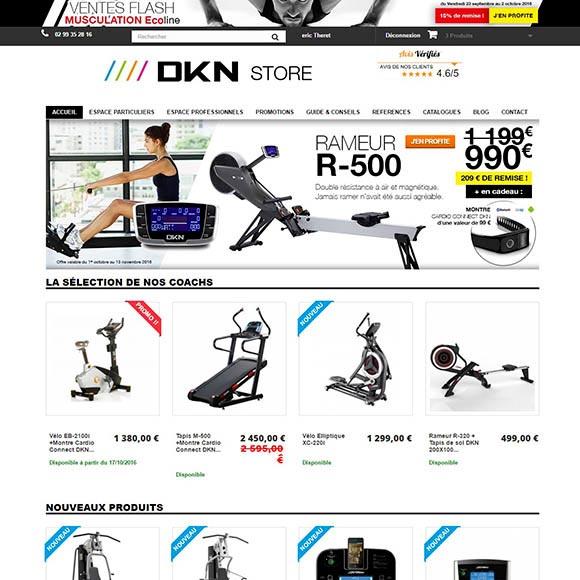 dknstore.com une réalisation Creactiweb agence web à Lyon https://www.creactiweb.com