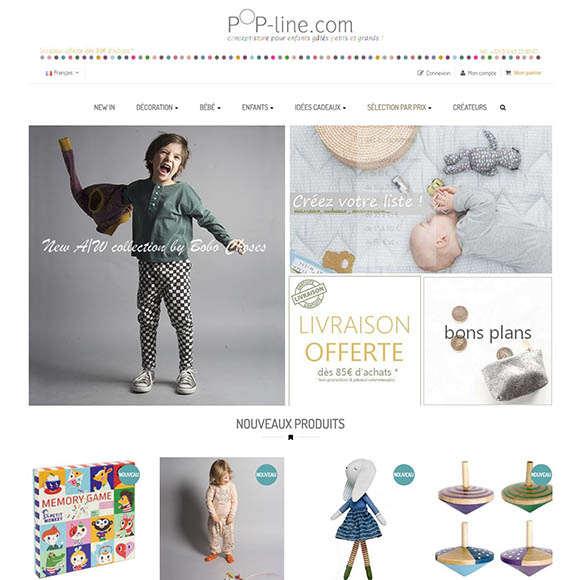 Pop-line.com une réalisation Creactiweb Agence Web Lyon www.creactiweb.com