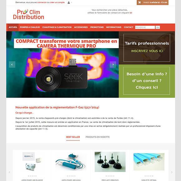 pro-clim-districubtion.com une réalisation Creactiweb agence web à Lyon https://www.creactiweb.com